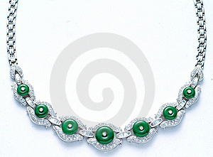 Diamond Necklace Royalty Free Stock Photo