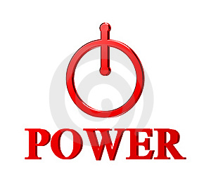 Red Power Button Royalty Free Stock Photography - Image: 20439757