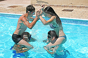 People In Swimming Pool Stock Image - Image: 20440111