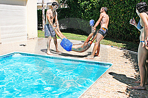 People At Swimming Pool Stock Photography - Image: 20441022