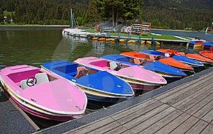 Boats On Lake Royalty Free Stock Photos - Image: 20441478