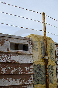 Barb Wire Security Fence Royalty Free Stock Photos - Image: 20441818