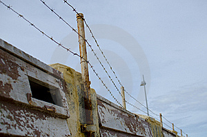 Barb Wire Security Fence Stock Photo - Image: 20441830