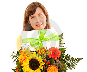 Coupon On Flowers Royalty Free Stock Photos - Image: 20442438