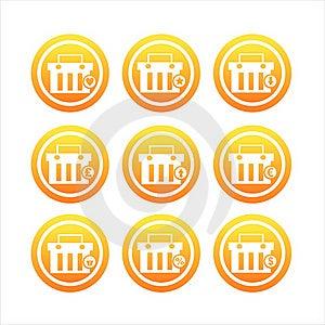 Orange Shopping Baskets Signs Stock Image - Image: 20442441