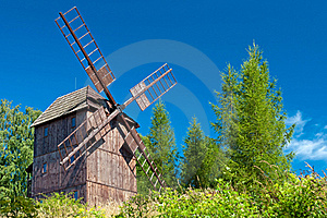 Wooden Windmill Royalty Free Stock Photos - Image: 20443518
