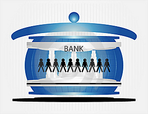 People In Bank Stock Photo - Image: 20443520