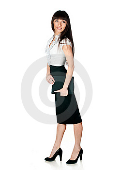 Beautiful Young Woman With A Folder Stock Images - Image: 20444014
