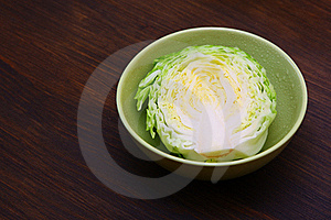 Image Of White Cabbage In Bowl Stock Photos - Image: 20444173