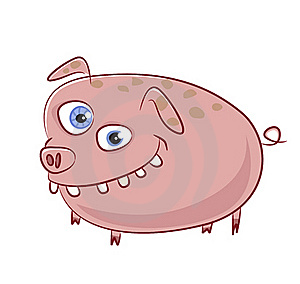 Caricature Funny Smiling Pig Character Stock Photography - Image: 20445272