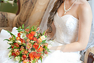 Bride Holding Bouquet Royalty Free Stock Photo - Image: 20446215