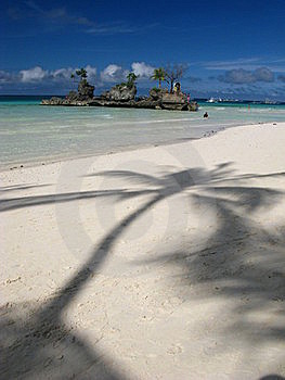 Dreamy White Sand Beach, Rock Island Stock Photos - Image: 20446243