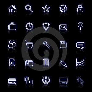 Web Icons Royalty Free Stock Image - Image: 20448686