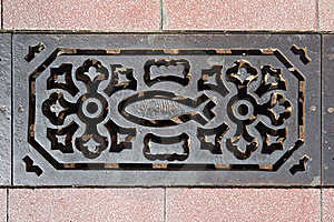Sewer Grate Stock Photo - Image: 20460180