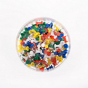 Multi Colored Push Pins Royalty Free Stock Image - Image: 20467086