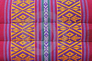 Thai Weave Fabric Pillow Royalty Free Stock Photos - Image: 20468158
