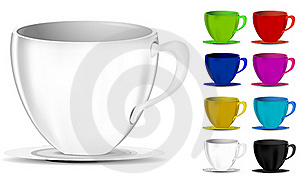 Colorful Coffee Cups Royalty Free Stock Photos - Image: 20468408