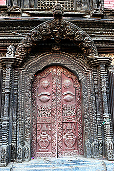 Door Of The Palace In Nepal Royalty Free Stock Photos - Image: 20468838