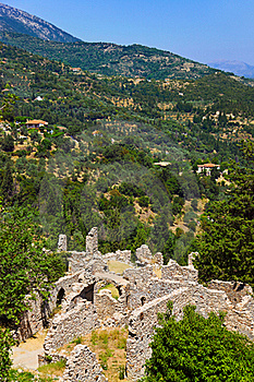 Ruins Of Old Town In Mystras, Greece Royalty Free Stock Photos - Image: 20468848