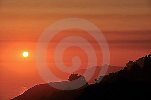 Big Sur Coast Sunset Stock Photo - Image: 20469760