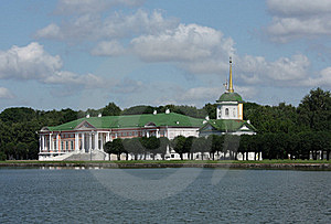 Kuskovo Estate. View Of The Ducal Palace Royalty Free Stock Photography - Image: 20470777