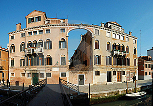 Old House - Panorama ,Venice,Italy Royalty Free Stock Images - Image: 20471139