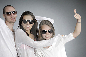 Teens Showing Ok Sign Stock Image - Image: 20474111