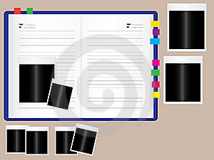 Notebook With Photo Frame Stock Photo - Image: 20474290