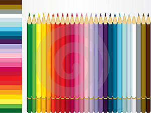 Color Pencil Set And Shade Sample Stock Images - Image: 20475094
