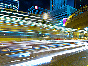 Urban Traffic At Night Stock Photos - Image: 20475263