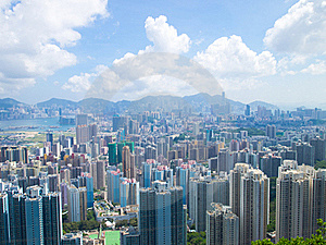 Hong Kong Downtown On Day Royalty Free Stock Images - Image: 20475289