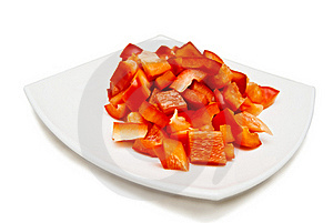 Red Sweet Pepper Sliced Royalty Free Stock Photos - Image: 20476118