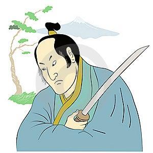 Samurai Warrior With Katana Sword Fighting Stance Stock Images - Image: 20480734