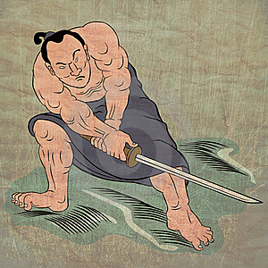 Samurai Warrior With Katana Sword Stock Image - Image: 20480781