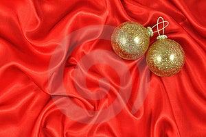 Baubles On Crimson Satin Stock Photos - Image: 20481003