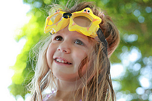Girl With Goggles Royalty Free Stock Photos - Image: 20481058