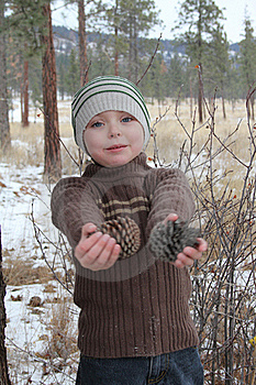 Winter Boy Stock Images - Image: 20481914