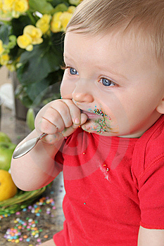 Kitchen Baby Stock Photo - Image: 20482180