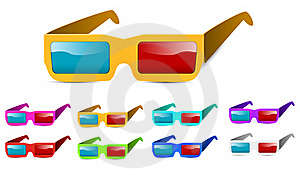 3d Glasses Royalty Free Stock Photos - Image: 20483278