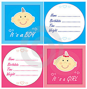 Baby Arrival Cards Stock Images - Image: 20484764