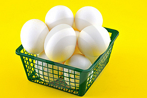 Eggs In A Basket Stock Photo - Image: 20485290