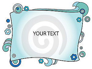 Decorated Blue Frame Stock Photo - Image: 20493430