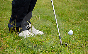 Golf Chip Shot From The Rough Royalty Free Stock Images - Image: 20493489
