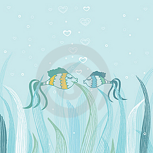 Fish Couple In Love. Stock Photo - Image: 20493750