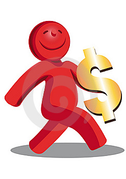 Happy Red Man Royalty Free Stock Photography - Image: 20498147