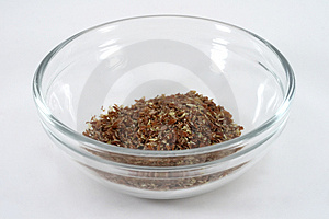 Flax Meal Stock Photo