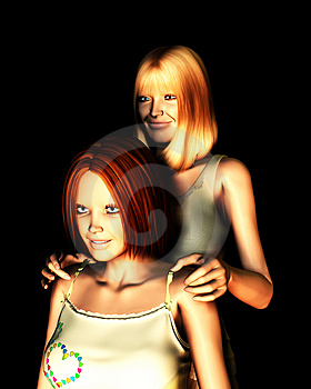 Mother And Daughter 3 Stock Photos - Image: 2056373