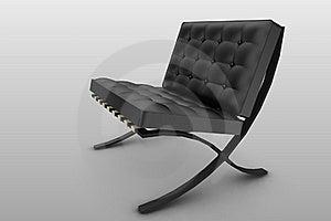 Designer Chair Black Royalty Free Stock Image - Image: 20500916