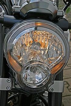 Motorcycle Headlight Royalty Free Stock Photos - Image: 20501518