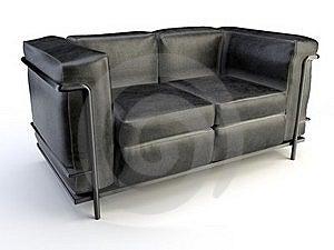 Black Sofa Royalty Free Stock Image - Image: 20502286